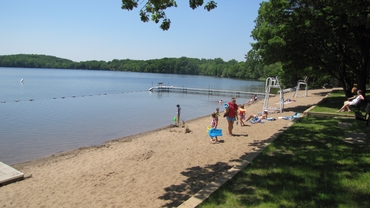 Summer at Pleasant Lake Beach
